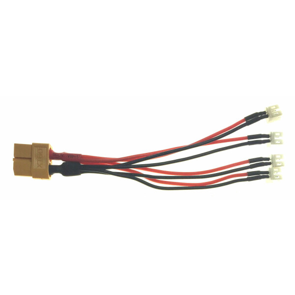*Ladeadapter 4-fach (parallel) PWC  PowerWhoopConnector / mcpx--> XT60 (ISDT)